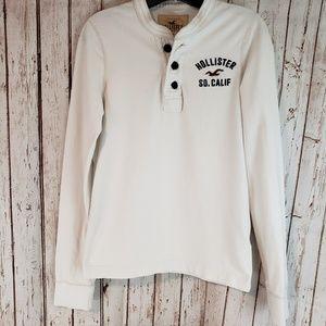 Hollister longsleeve 3 button shirt top sz sm
